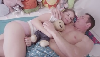 Scarcely legal action young adult Alice March is having intercourse with her changed stepdad