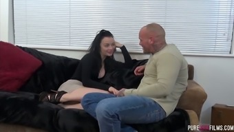 British girl Alessa Vicious gets her muff rammed by one hairless directed hunk