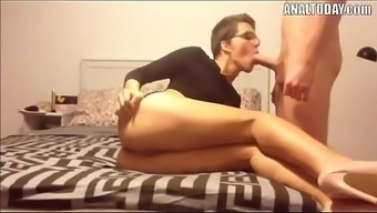 Anal passage Intercourse With the use of Short Haired Horny German born Chicken