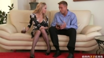 Lovely flaxen MILF Aiden Starr makes her son-in-law to hack