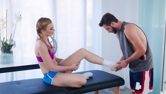 Handsome guy massages hot Alexa Grace with his long dick